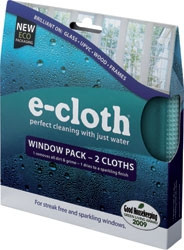 E Cloth for cleaning Windows